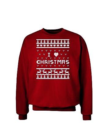 Iheart Christmas.Amazon Com Tooloud I Heart Christmas Ugly Christmas Sweater