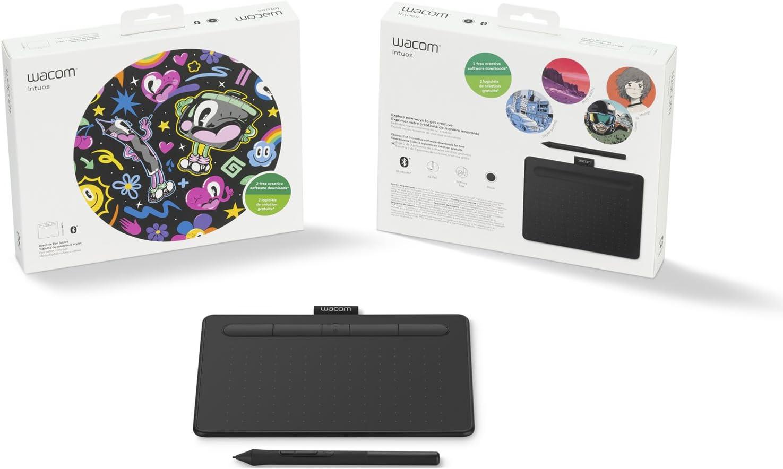 Amazon Com Wacom Ctl4100 Intuos Creative Pen Small Wireless Bluetooth Tablet Black Bundle With Corel Paint Shop Pro 2018 Digital Download Card Computers Accessories