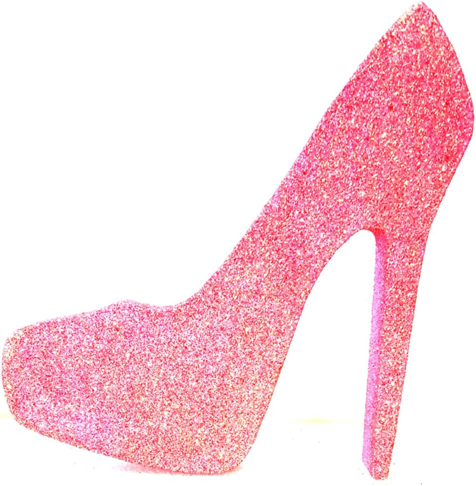 Pink Glitter High Heels Shoes