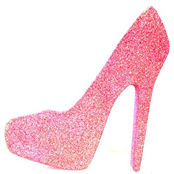 Amazon.com  High Heel Stiletto Shoe (Rainbow Pink Glitter fff9c0bfe