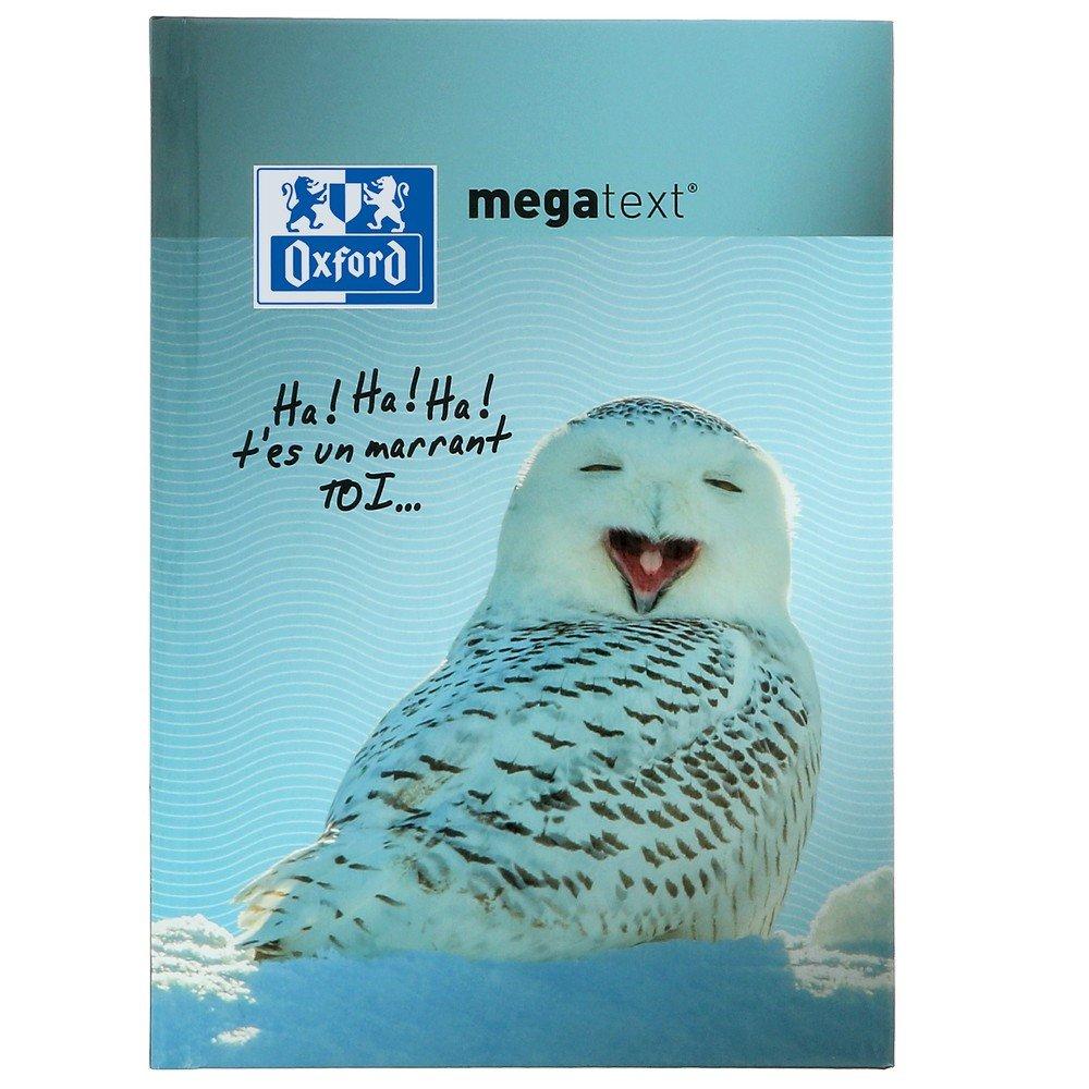 Oxford Funny Pets Cahier de Textes Megatext 2018-2019 rembordé rigide 224 Pages 15 x 21 cm motif CHOUETTE 400093921
