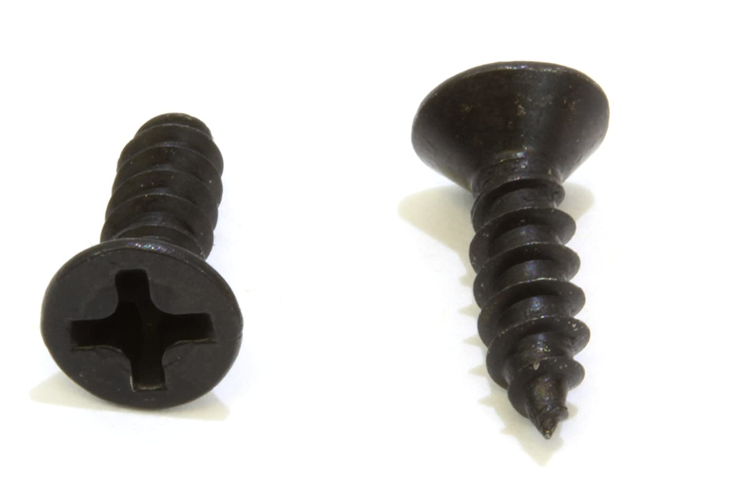 Stainless Steel Screw by Bolt Dropper 304 18-8 #6 X 3//4 Black Oxide Coated Stainless Flat Head Phillips Wood Screw, 100 pc