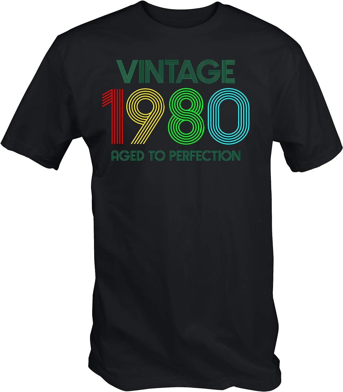 6TN Hombre Vintage 1980 Envejecido a la Camiseta de la perfección: Amazon.es: Ropa y accesorios
