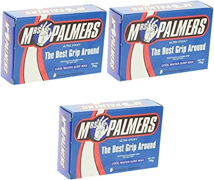 Mrs Palmers Warm Water Surf Wax 3 Pack