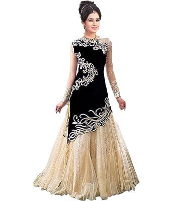 saree by saree mandir Women\'s Velvet Dress Material (gown gowns for ...