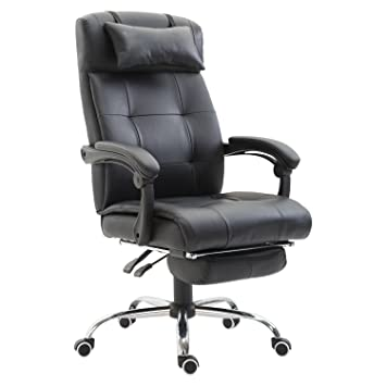 Homcom Executive Pu Leather High Back Reclining Swivel Office Chair