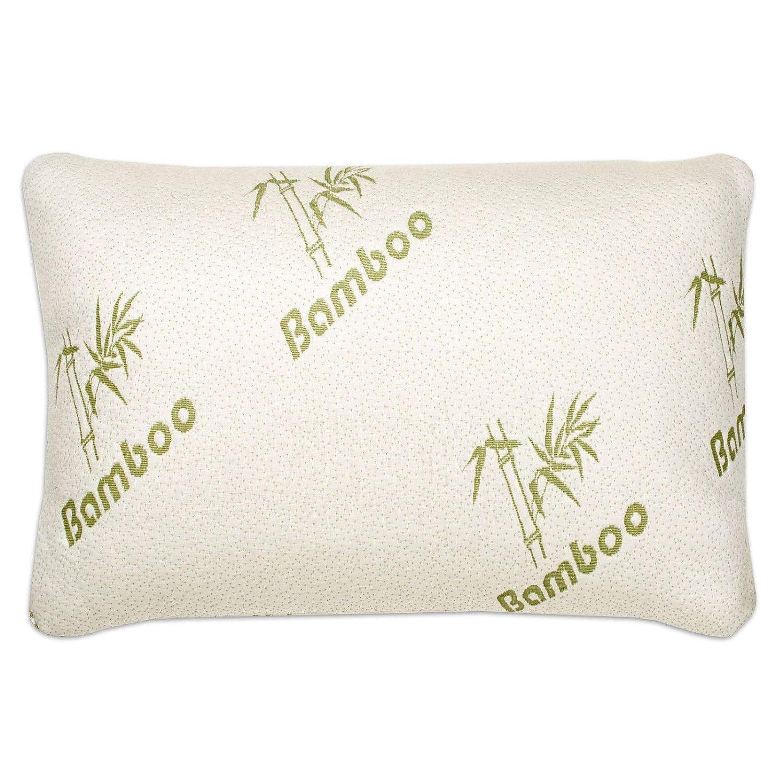 Memory Foam Bamboo Pillow White Shredded Bamboo Memory Foam