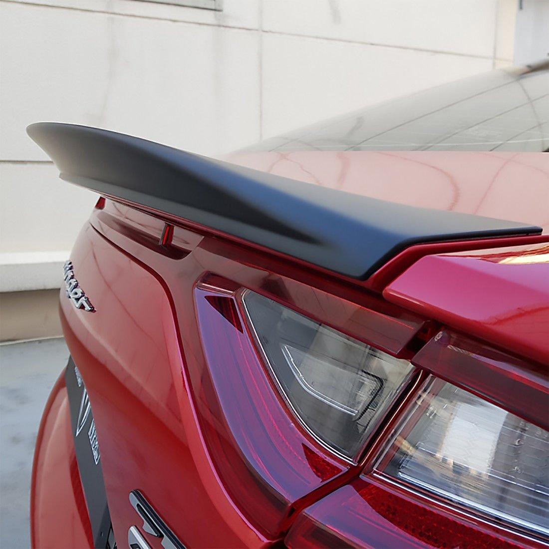 New M/&S Matte Black Rear Trunk Wing Spoiler G Type  for Kia Stinger 17-18