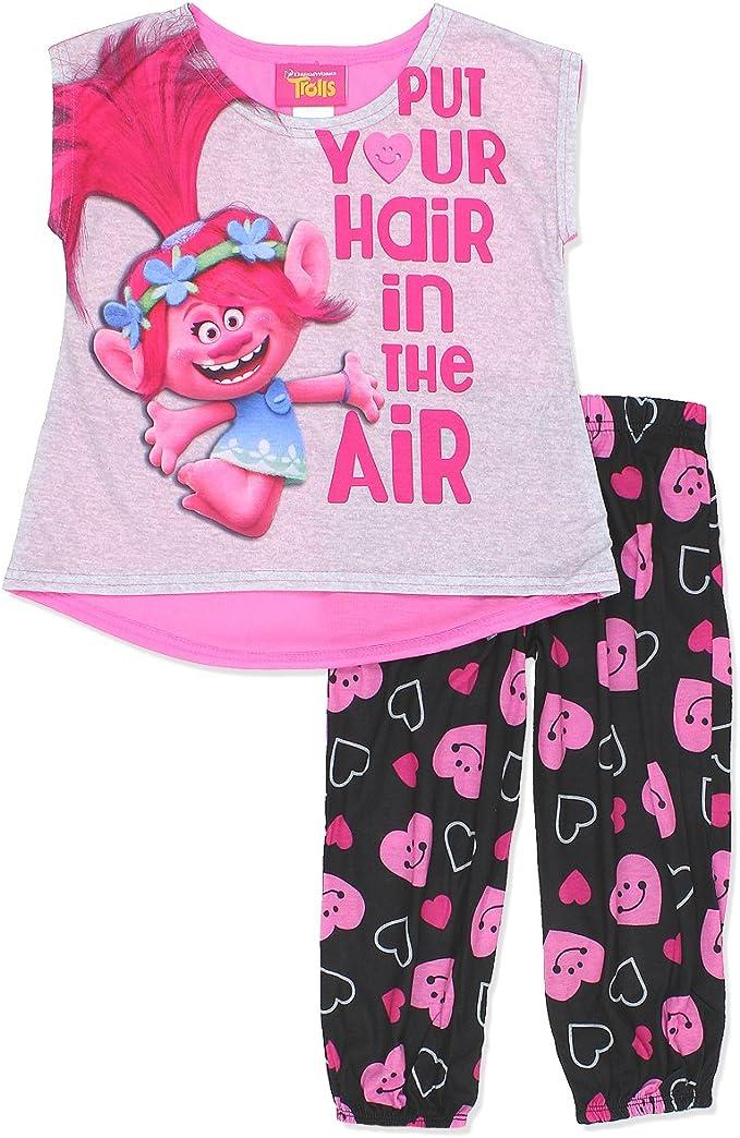 Trolls Big Girls Pajama Set 2-Piece Pajamas