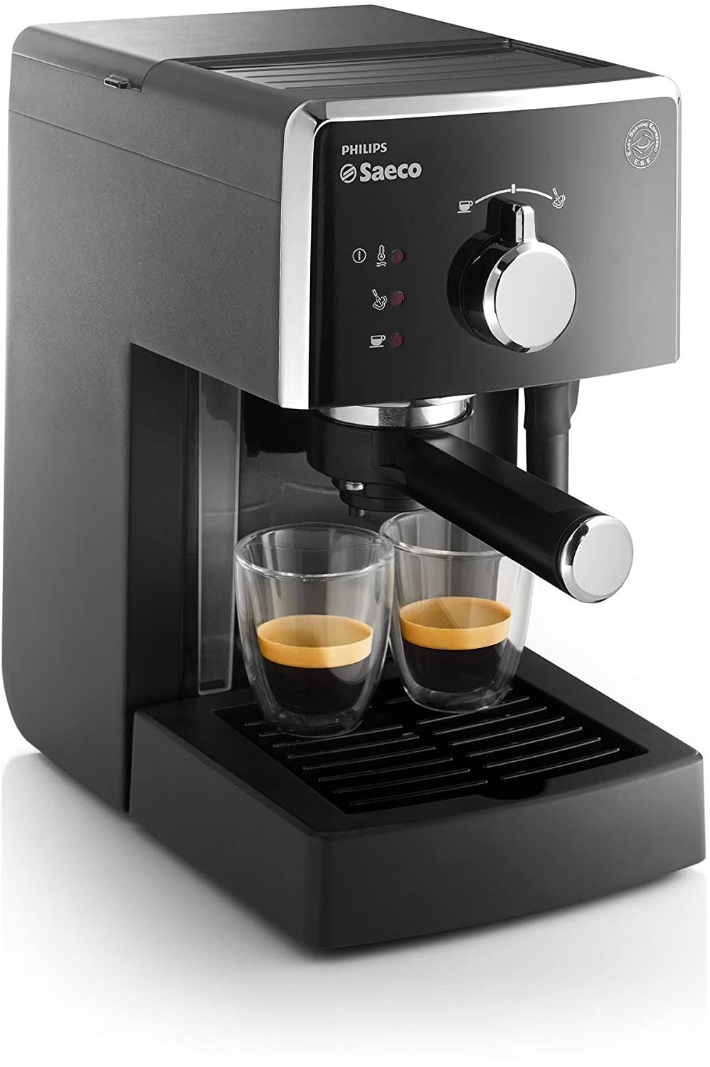 Saeco - Hd8423/11 - Máquina De Café Espresso Manual, 950 W, Color Negro (Reacondicionado Certificado): Amazon.es: Hogar