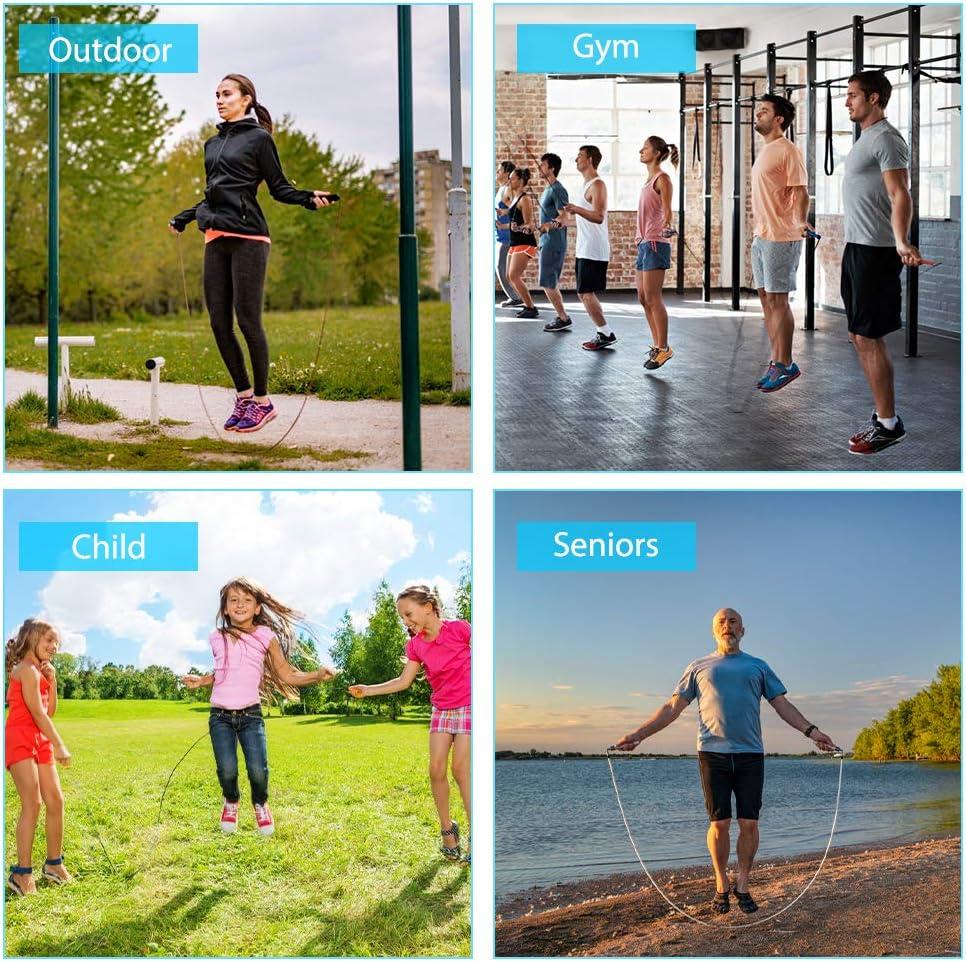 Blau Springseil mit Z/ählen Jump Rope Crossfit Digitale Drahtlose Seilspringen mit Kalorienz/ählen Kugellager Anti-Rutsch Griffe f/ür Sport Training Fitness f/ür Kinder /& Erwachsene