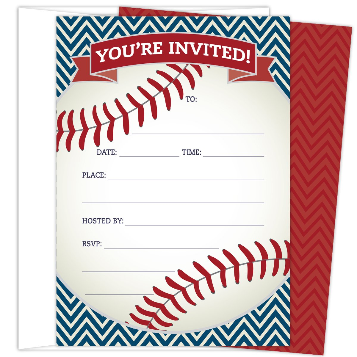 Amazon.com: Baseball Diaper Raffle Insert Card Set of 25: Health ...