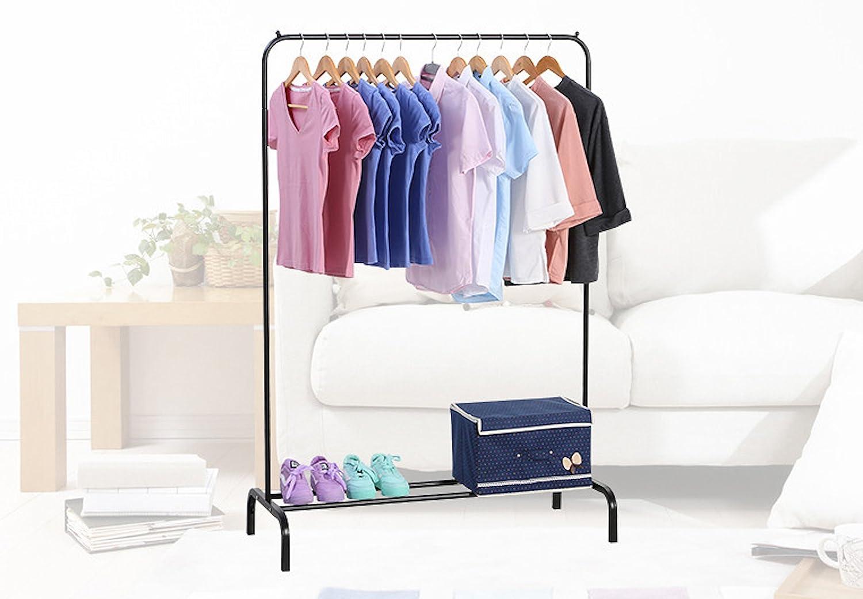 Ease Home Portant en métal minimaliste et moderne pour vêtements, Étagère inférieure pour rangement des boîtes à chaussures et bottes