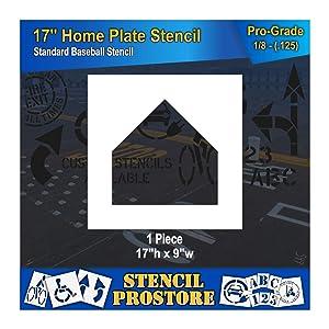 Athletic Marking Stencil - 17 inch -Baseball Home Plate Diamond Stencil - 17