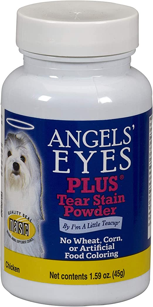 Angels' Eyes PLUS Tear Stain Prevention Powder for Dogs - 45 gram - Chicken Formula