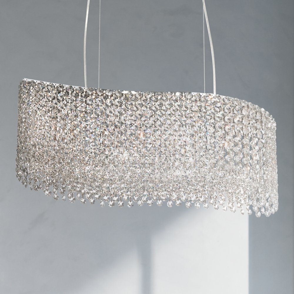 rb inch light optical chandelier with crystal bronze wide roman