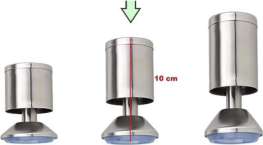 8 cm Verschiedene Gr/ö/ßen vielseitig einsetzbare F/ü/ße f/ür M/öbel Sofa Schrank Tisch 4X M/öbelf/ü/ße verstellbar aus Edelstahl