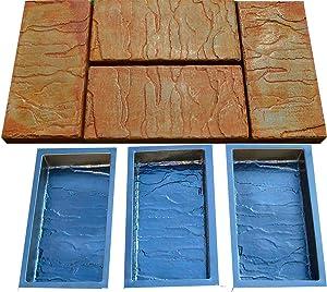 Sold Set 6 Piece Design Concrete MOLDS for Paving Brick Slab Patio Garden Path Mould S23