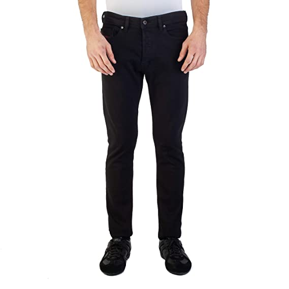 259d3075 Diesel Men's Slim-Carrot Fit Tepphar RDS05 Stretch Jean Pants Black ...