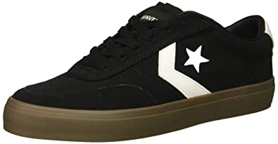 db4471a27333b2 Converse Men s Courtlandt Suede Leather Accent Low Top Sneaker  Black White Brown 4 M