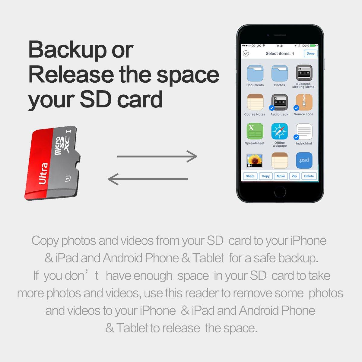 Topjoy 2 in 1 Android Micro USB y iPhone Relámpago Conector Lector ...