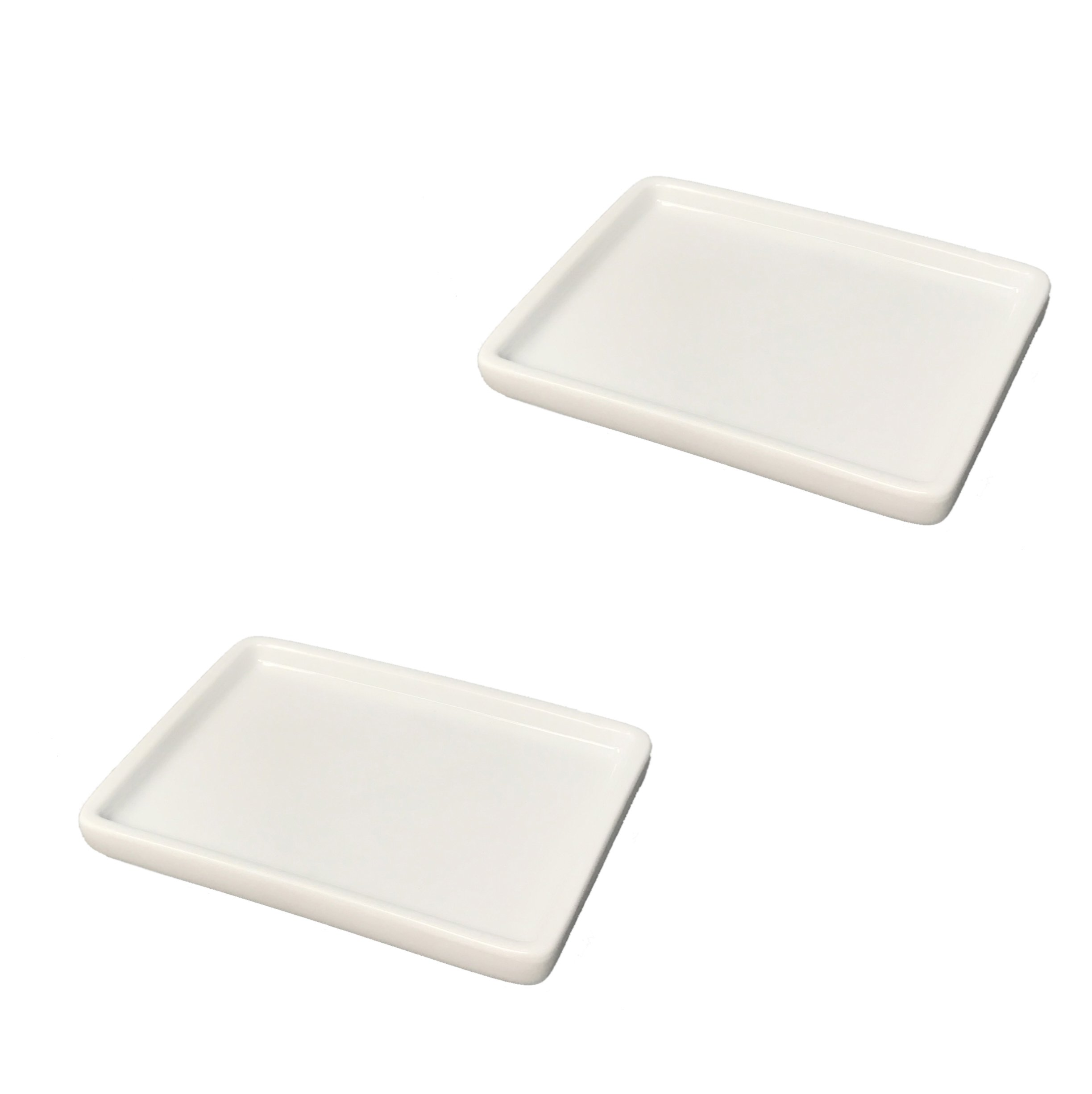 Tetra-Teknica Less is More Series SD-2P Porcelain Soap Dish, Color White, 2 per Pack
