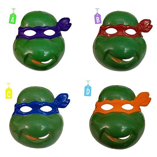 Carnival T. Máscara Tortuga Ninja PVC Verde 4 Colores ...