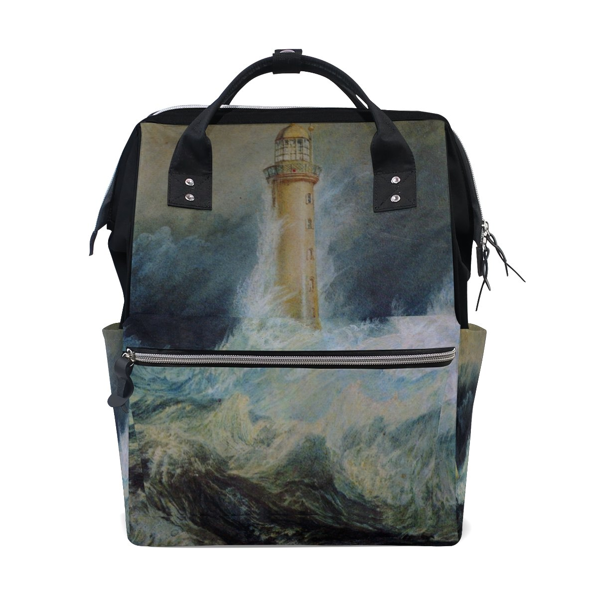 imobaby Stormy Waters Changing Bags Large Capacity Handbags Canvas Shoulder Bag Backpack