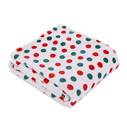 berkshire blanket merry dots velvetloft christmas throw blanket plush multi