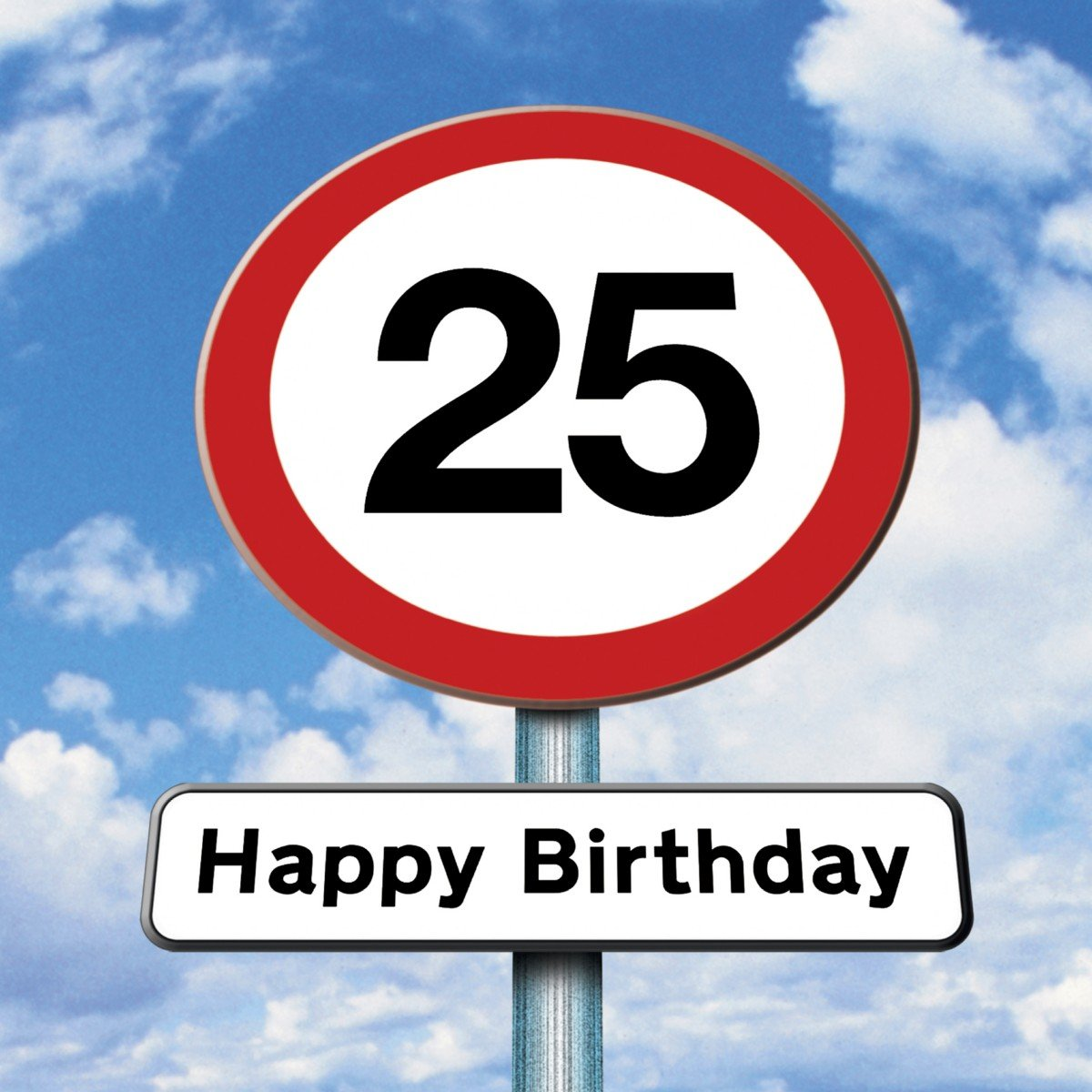 Twizler 25th Birthday Card