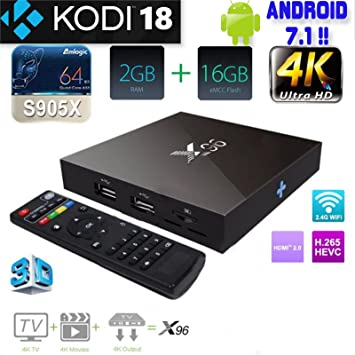 08a1cca9658 X96 KODI 18 TV BOX Android 7.1 4-Core 4K Smart Media Streaming ...