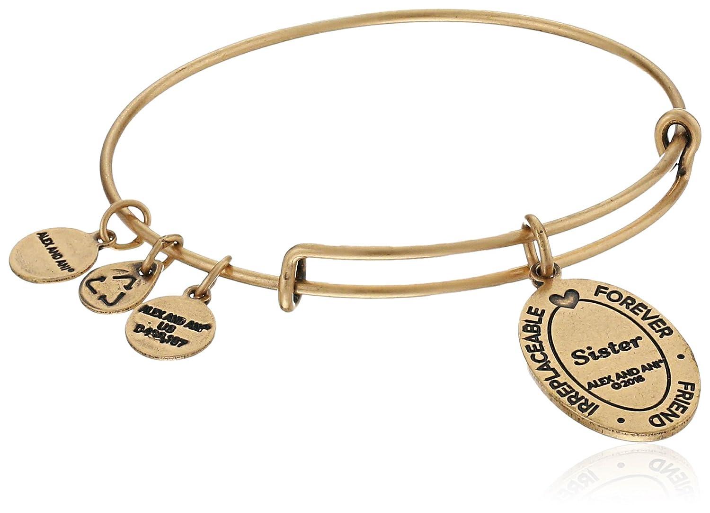 Amazon: Alex And Ani Because I Love You, Sister Ii Expandable Rafaelian  Goldtone Bangle Bracelet: Jewelry