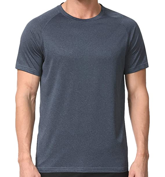 Men's Dry Fit Athletic T Shirts, Short Sleeve Crew Neck Workout Tees