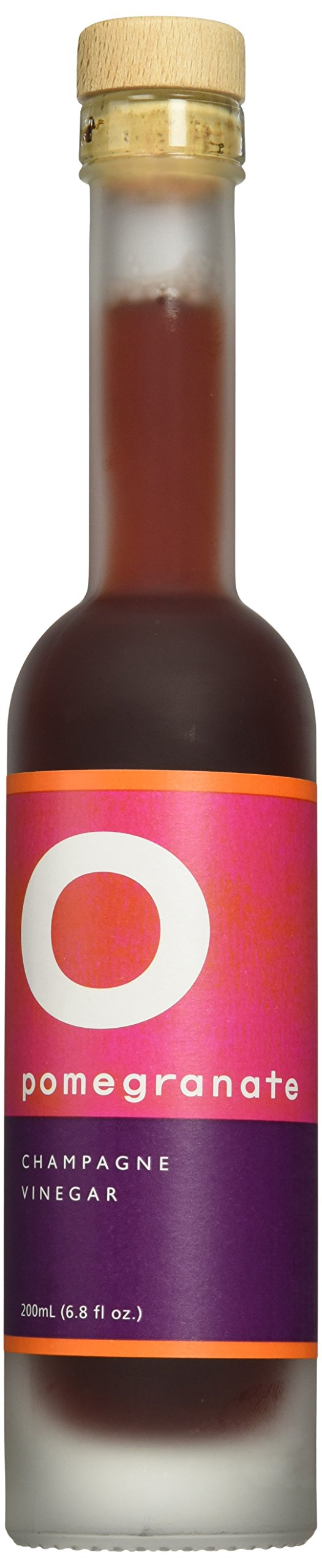 O OLIVE OIL & VINEGAR Pomegranate Champagne Wine Vinegar, 6.8 Fluid Ounce