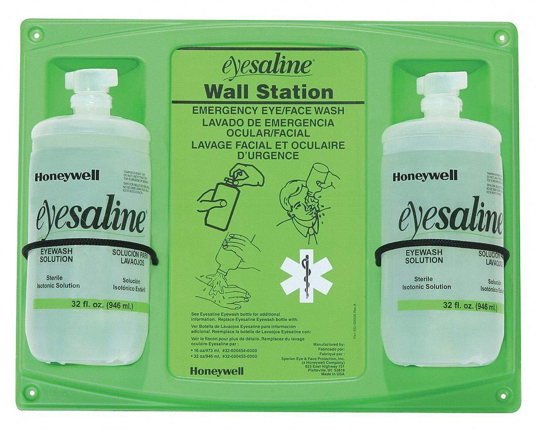 Eyesaline 32 Ounce Double Wall Station Sperian Sterile Saline - Model No. 32-000462-0000 Sperian Eye & Face Protection Inc