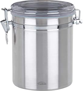 Trudeau Stainless-Steel Food-Storage Canister, 52 Ounces