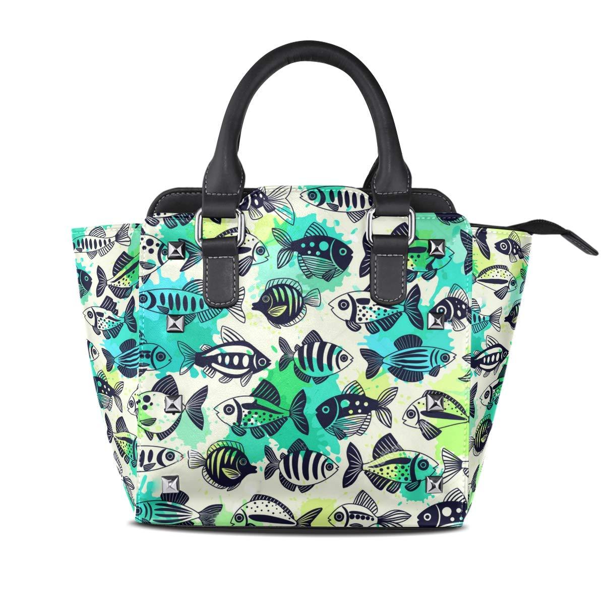 Design2 Handbag Skull Yellow Genuine Leather Tote Rivet Bag Shoulder Strap Top Handle Women