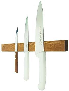 Tira magnética de madera para cuchillos de 25,4 cm - soporte ...