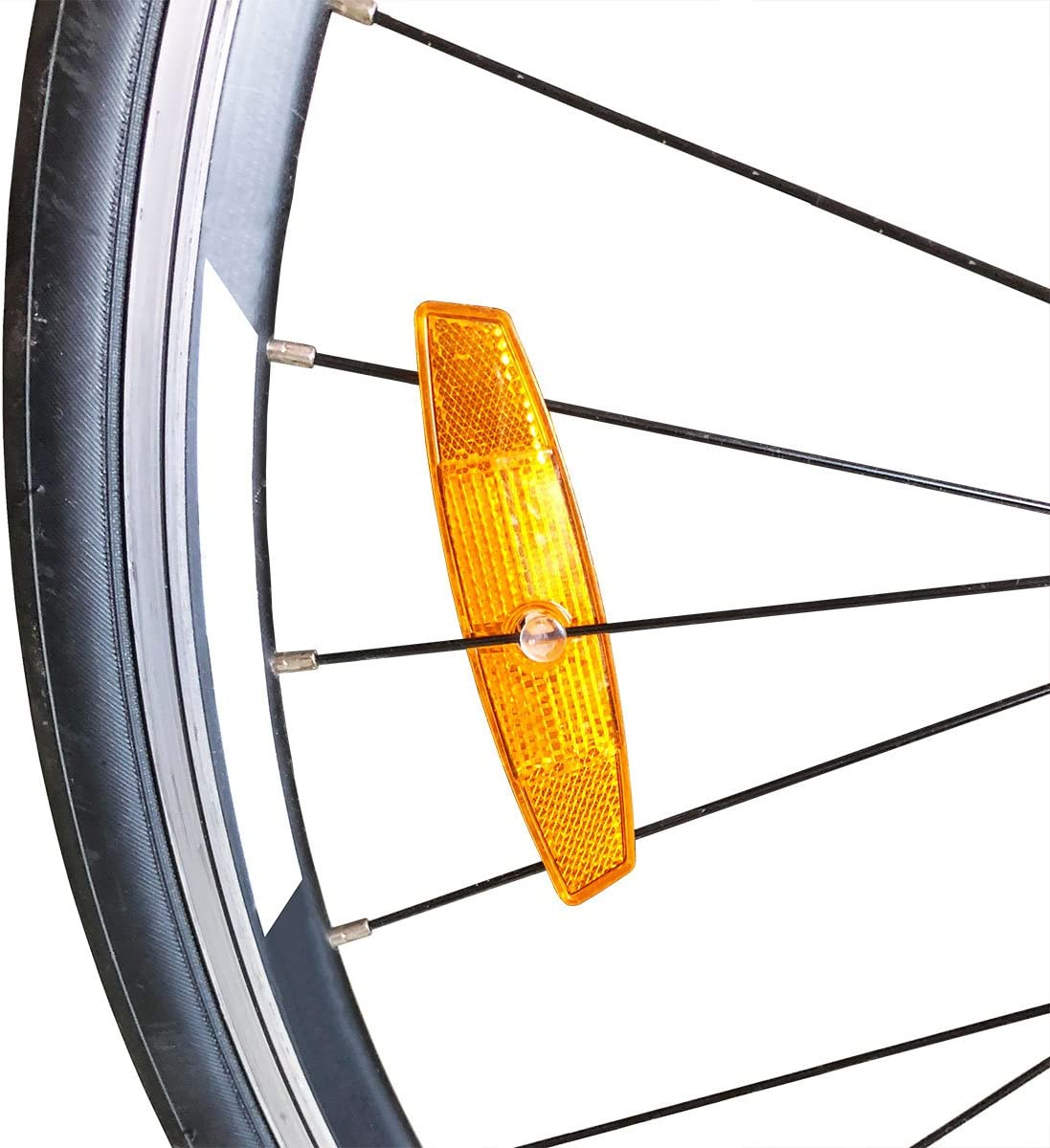 Labewin 1Pair Riding Bike Bicycle Warning Reflector Bicycle Wheel Rim Reflective MTB Road Spoke Lights Bike Accessories