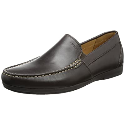 Geox Men's Siron 2 Slip On Loafer, Brown, 40 Medium EU (10 US) | Loafers & Slip-Ons