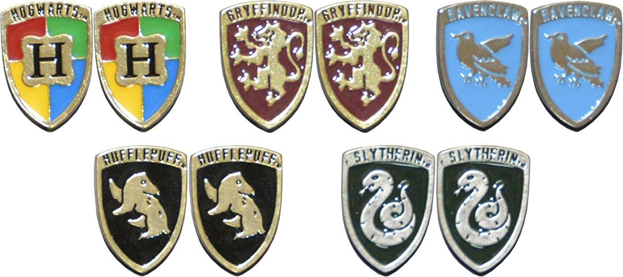 Harry Potter Crests Earrings BioWorld Stud