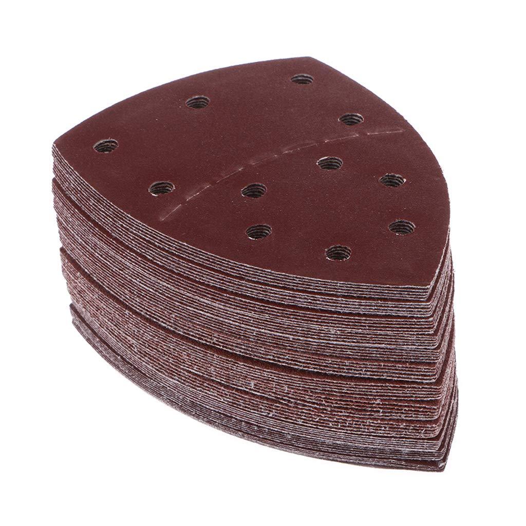 Lot de 60 feuilles de papier abrasif 11 trous 40//60//80//120//180//240 Grain