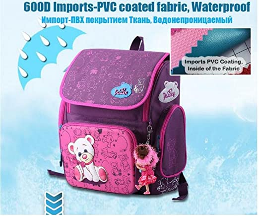 Amazon.com : Cartoon Bear Backpack School Satchel Children School Bags Orthopedic Waterproof Backpacks Girls School Backpacks mochila escolar (1pc, ...