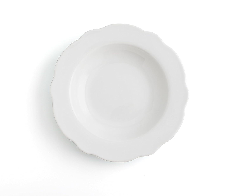 Bidasoa Vajilla 18 Piezas Porcelana Baroque, Blanco, 19.6 cm, Unidades: Amazon.es: Hogar