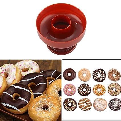 Ballylelly Donut plástico bricolaje fabricante del buñuelo molde del cortador herramienta del molde Postres panadería