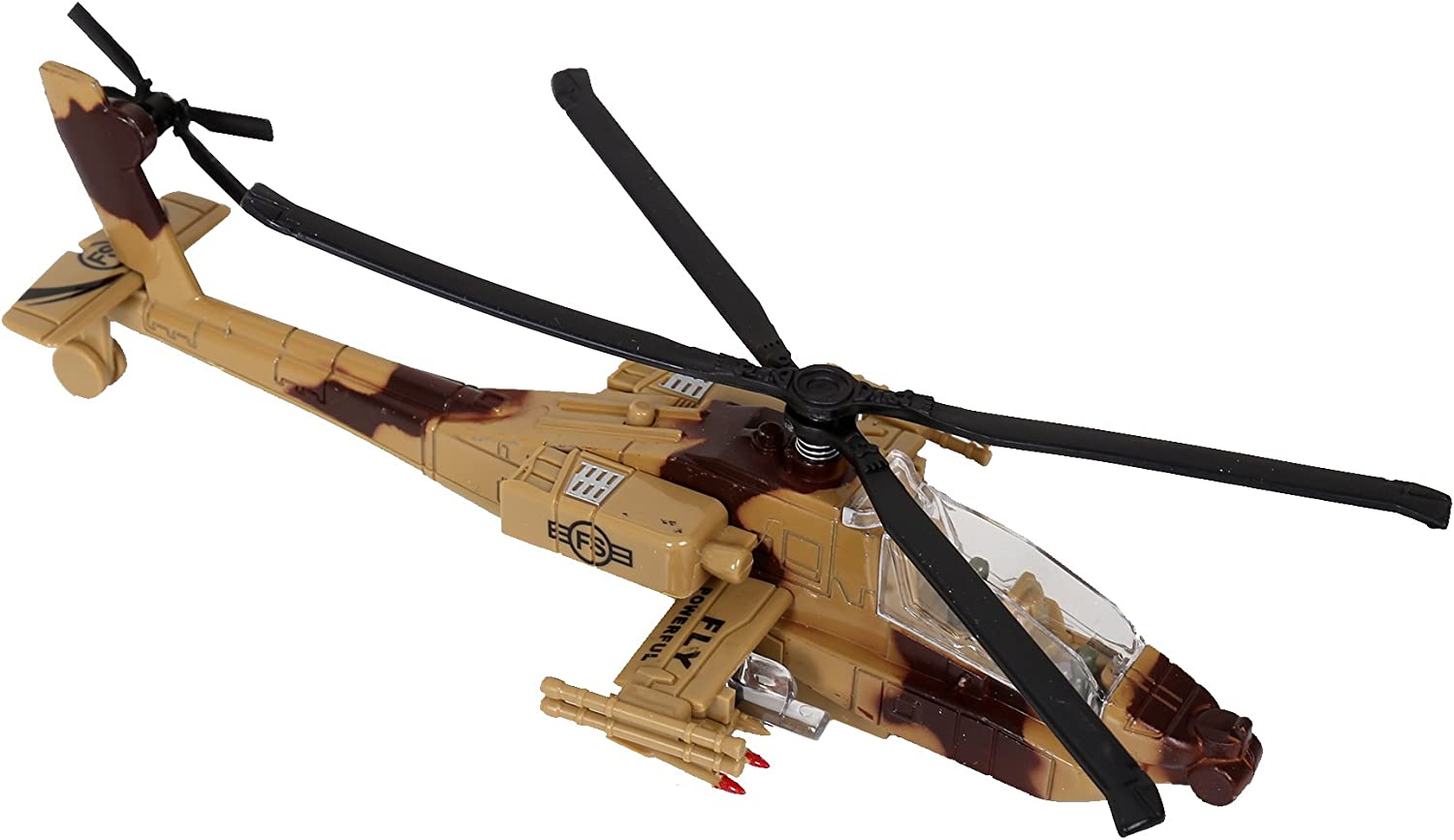 8.5 Inches CTG Beige 1:88 Sky King Apache Helicopter