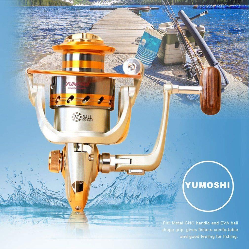 YUMOSHI 12 Axles Metal Rocker Arm Shaft Fishing Line Spin Reel No Clearance