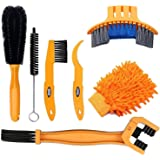 SINGARE 7pcs Bicycle Bike Cleaning Tools Set, Bike Clean Brush Kit Suitable for Mountain, Road, City, Hybrid, BMX and Folding