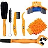 SINGARE 7pcs Bicycle Bike Cleaning Tools Set, Bike Clean Brush Kit Suitable for Mountain, Road, City, Hybrid, BMX and…
