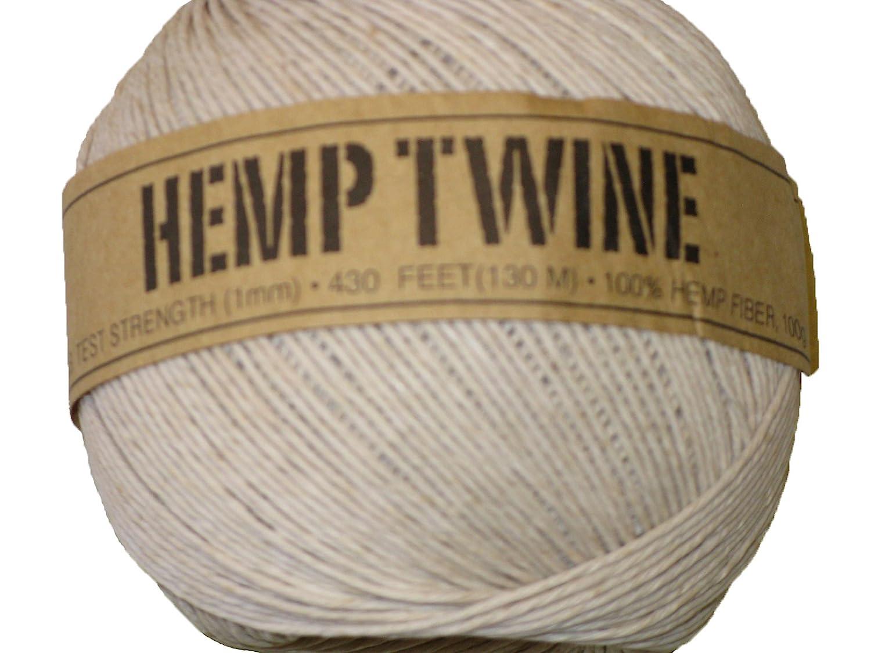 Hemp Twine White 20# 1mm 430Ft 130m Hemp By Design HT-WH430